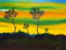 507 Tramonto con profilo di alberi